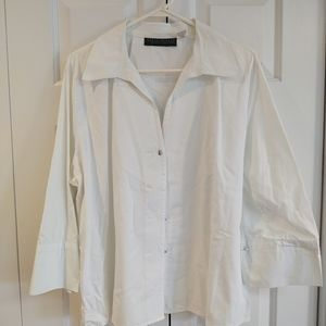 🎃Harve Benard white shirt, french cuffs, 2X